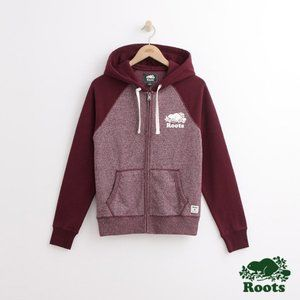 Roots Cotton Blend Hoodie, Size M